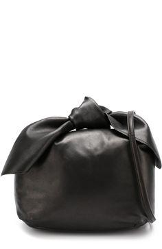 64edba9773c7 Женская черная кожаная сумка с бантом Simone Rocha, сезон FW 17 18, арт
