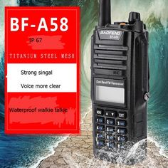 Baofeng A58 walkie talkie High/MID/Low 136-174mhz 400-520mhz waterproof IP67 two way radio FM Radio Station CB ham radio   Click visit for check price #walkietalkie