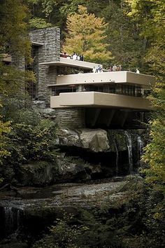 Fallingwater or Kaufmann Residence is a house designed by architect Frank Lloyd Wright in 1935 in rural southwestern Pennsylvania, 50 miles (80 km) southeast of Pittsburgh