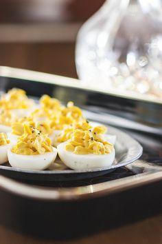 Local Milk | truffled deviled eggs with crème fraîche