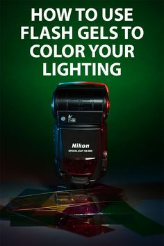 How to use flash gels with speedlight flash & other lights to match flash with ambient lighting, add creative color, or soften the lighting. Written by Discover Digital Photography December 7th, 2014. http://www.discoverdigitalphotography.com/2014/how-to-use-flash-gels-to-color-your-lighting/