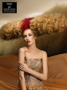 Sand Storm is an Haute Couture look inspired by the desert area where strong wind blows the sand, turning them into big rolls of horizontal waves of sand and dust. The result is an Haute Couture look created by using Makarizo Smart Waves perming product.