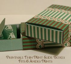 Printable Andes Mint slide boxes hearts and stripe...