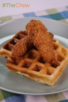 """Whip up Paula Deen's specialty """"Paula's Chicken & Waffles"""" breakfast for your family today!"""