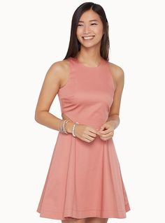 Exclusively from Twik     Your perfect casual chic dress!   Fit and flare style   100% stretch cotton weave   Accent zip at the back    The model is wearing size small    Length: 86cm, from the top of the shoulder