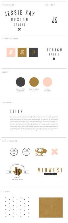 Charte graphique de la marque Jessie kay Design par Jessie Kay.