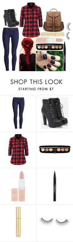 """Emma: October 12, 2016"" by disneyfreaks39 ❤ liked on Polyvore featuring Levi's, JustFab, Marc Jacobs, Rimmel, Trish McEvoy, AERIN and tarte"