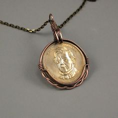 Image result for how to wire wrap a coin pendant