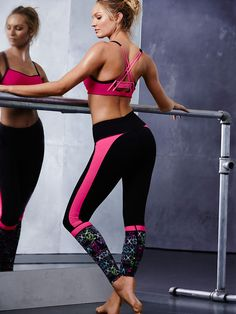 Always on point: a bright stripe, a cool graphic and a comfy, body-loving fit. | Knockout by Victoria's Secret Tight