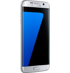 Samsung Galaxy S7 Edge in silver titanium 32 GB internal memory with expandable memory up to 128 GB microSD