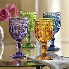 4-Piece Vintage Goblet Set from Through the Country Door® | CF706955