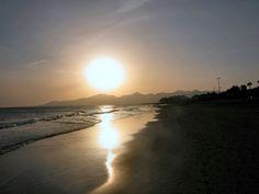 Sunset at Puerto del Carmen, Lanzarote January 2003
