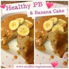 Healthy Peanut Butter and Banana Cake Recipe
