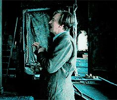 """I honestly love this gif of Remus so much because he's just SO DONE with Sirius. He goes from being """"Sirius, you have a wand to your throat. Now is not the time to start getting sassy and insult the person holding said wand"""" to """"you know what, screw it. Do whatever the heck you want. I'm done. Why do I even bother with this crap?"""" And you just KNOW that this exact same situation happened regularly while they were at school together."""