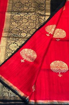 Shop online for Red Handloom Banarasi Dupion Silk Saree with price Phulkari Saree, Dupion Silk Saree, Kanjivaram Sarees, Cotton Saree, South Indian Sarees, Ethnic Sarees, Silk Sarees Online Shopping, Modern Saree, Elegant Saree