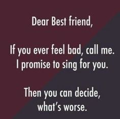 friendship quotes funny ~ friendship quotes & friendship quotes funny & friendship quotes meaningful & friendship quotes in hindi & friendship quotes inspirational & friendship quotes support & friendship quotes for boys & friendship quotes distance Besties Quotes, Cute Quotes, Girl Quotes, Happy Quotes, Bffs, Bff Quotes Funny, Funny Sayings, Bestfriends, Funny Quotes For Girls