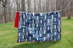 I really like this denim quilt and it would be really easy to do.