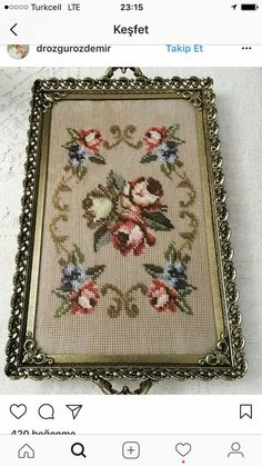This post was discovered by Emel Baloğlu. Discover (and save!) your own Posts on Unirazi. Cross Stitch Heart, Cross Stitch Borders, Cross Stitch Flowers, Cross Stitch Designs, Cross Stitching, Cross Stitch Embroidery, Hand Embroidery, Cross Stitch Patterns, Palestinian Embroidery