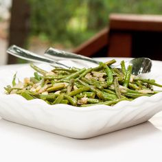 Green Beans with Shallots and Pine Nuts