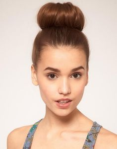 Simple and beautiful updo bun hairstyle