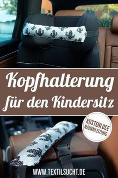 Nähanleitung: Kopfhalterung für den Kindersitz nähen #nähen #freebie