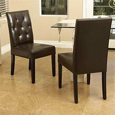 Angelo Java Bonded Leather Studio Dining Chair 2-pk Fully Assembled . $319.98
