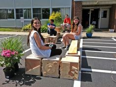 #Students Transform a Parking Space In Front of Their School Into a Cool #Parklet | Inhabitat
