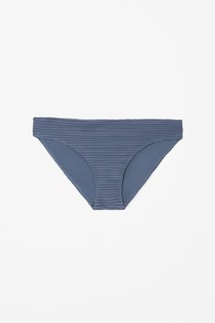 COS Ripple bikini bottoms in Shadow Blue