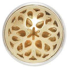 Noosa Chunk Rose Window Gold Messing  ► Material:messing ◄ Rose windows sind runde Glasmalereien in der Form einer Rose, die man in vielen Kirchen und Kathedralen findet. Sie stehen für göttliche und weibliche Kraft. ☼ 16,95 € ☼