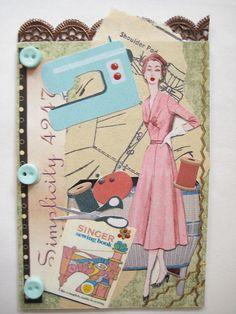Vintage Sewing ATC
