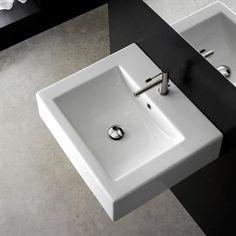 Blokk II - Retangulær håndvask i porcelæn der er fra Italien.
