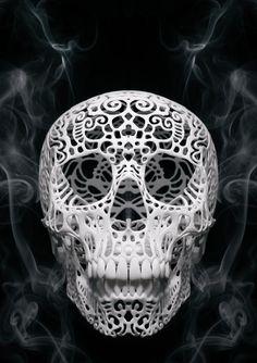 ☆ Artist Joshua Harker's Skull and Smoke ☆