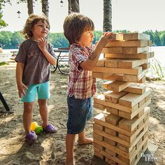 Ensure your child's outdoor birthday party is tons of fun with these easy to prepare outdoor games! From a DIY giant crossword puzzle to frisbee tic tac toe; these lawn games take little time, effort or money to put together.