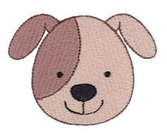Cute Animal Face, Dog - 4x4 | Tags | Machine Embroidery Designs | SWAKembroidery.com Bunnycup Embroidery