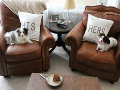 DIY His-and-Her Throw Pillows