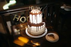 Our boozy Irish wedding cake with Chocolate Stout and Irish Cream