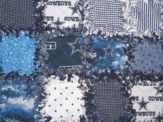 Handmade Dallas Cowboys Football Baby Rag Quilt by BuggysBlankies, $37.50