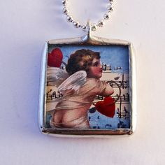 Soldered Glass Necklace  Reversible Soldered by mysweetseptember