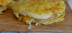Potato rosti with ham and cheese recipe easy Cheese Recipes, Cooking Recipes, Veggie Bites, Slovak Recipes, Prosciutto, Polish Recipes, Love Eat, Ham And Cheese, Galette