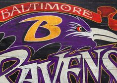 I love how the colors POP in this   Baltimore Ravens Print with MAT