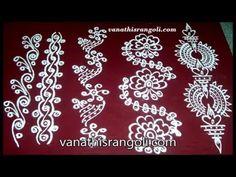 Vanathi's Rangoli , Art / Crafts: Simple Rangoli Border Designs for Beginners Part -. Simple Rangoli Border Designs, Rangoli Designs Flower, Rangoli Borders, Rangoli Patterns, Rangoli Designs Images, Mehndi Art Designs, Rangoli Ideas, Rangoli Designs With Dots, Rangoli Designs Diwali