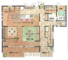 豊見城市 見学会(戸建・新築) 【4/26(土)27(日)】週末はウッドデッキでBBQ♪子育て世代に人気のウッドデッキを見に行こう! 株式会社 りゅうせき建設|てぃーだマンション住宅イベントカレンダー Craftsman Floor Plans, House Floor Plans, Floor Plan Sketch, Japanese Interior, House Inside, Japanese Architecture, Sims House, Japanese House, House Layouts