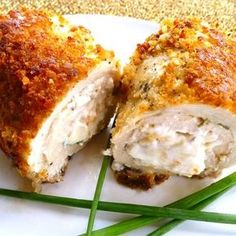 """Cream Cheese and Garlic Stuffed Chicken 
