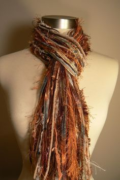 fashion scarves | Fringe Hand Tied Scarves Womens Scarf - Southwestern Flair - Shades of ...