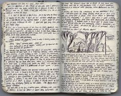 Moleskin journals from the PCT...love this guys use of illustrations and narrative