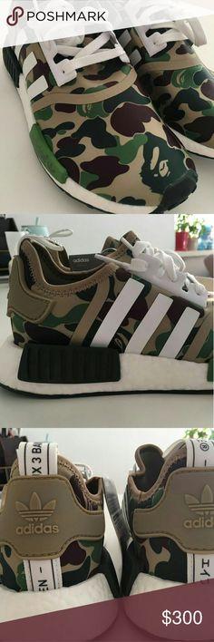 new style 7121e 38a07 Adidas x Bape Nmd R1 Camo BA7236 S adidas Shoes Athletic Shoes Bape Nmd, Nmd