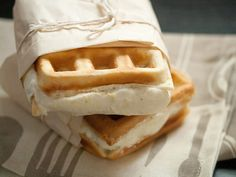Lemon-Rosemary Gelato Waffle Sandwiches! | Crumb Blog