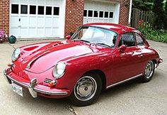 Gorgeous vintage Porsche in red!