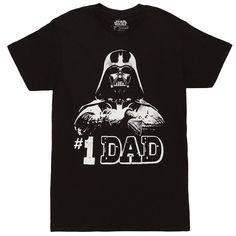 Star Wars No.1 Dad Darth Vader Father's Day T-Shirt - #starwars #darthvader #shirt @ https://starwargift.com/bes
