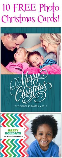 10 FREE Photo Christmas Cards! {just pay s/h}